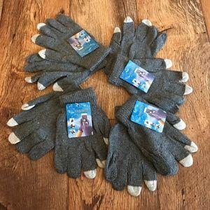 Wholesale Gloves Touchscreen Winter Acrylic Gray